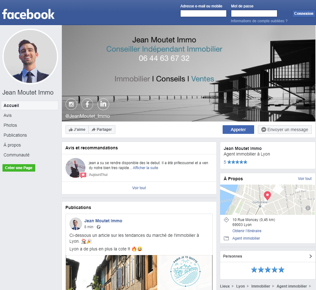Facebook Immobilier